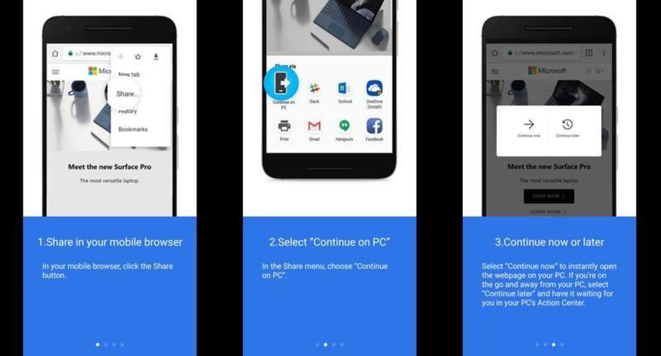 スマートフォンからPCへウェブページを瞬時に送る方法