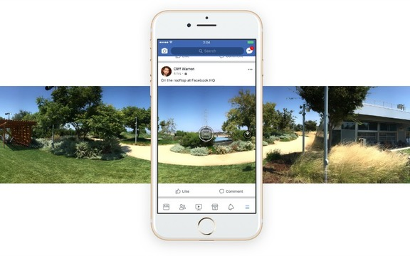 Facebookで手軽に360度写真を撮ってシェアできるようになりました!