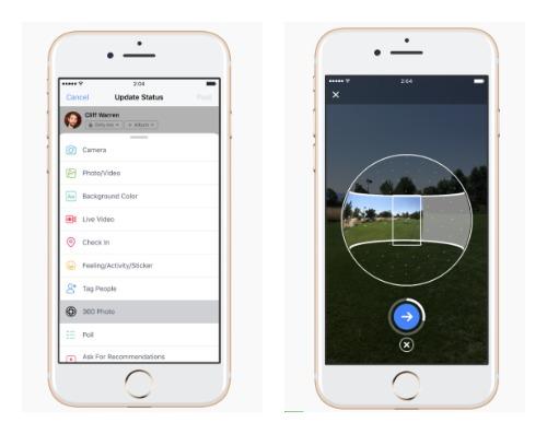 手軽に360度写真を撮ってシェアできるアプリがFacebookに登場2