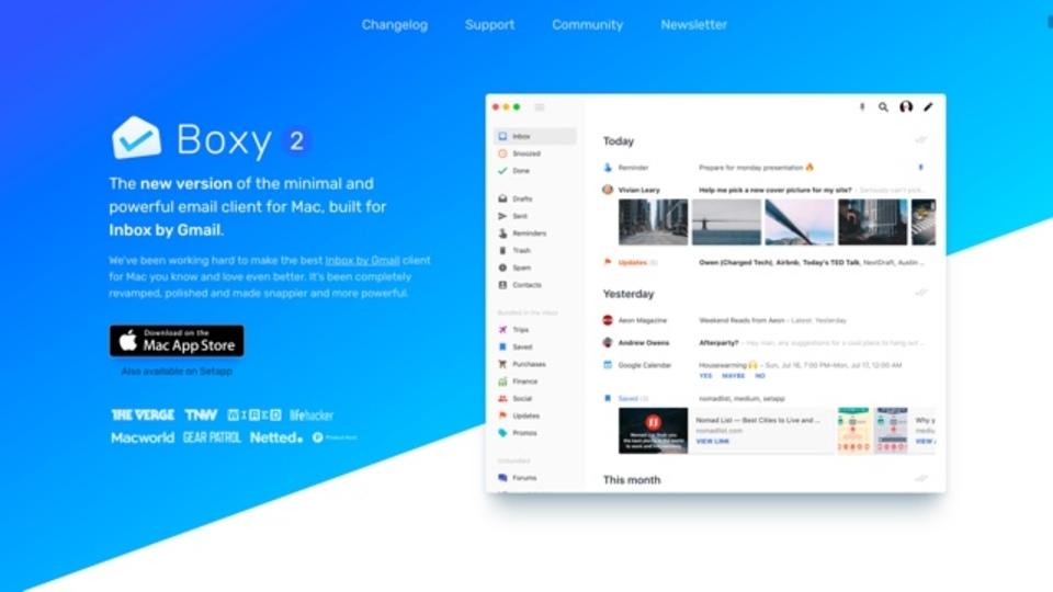 Googleの『Inbox』のメールを確認できるMacアプリ『Boxy』