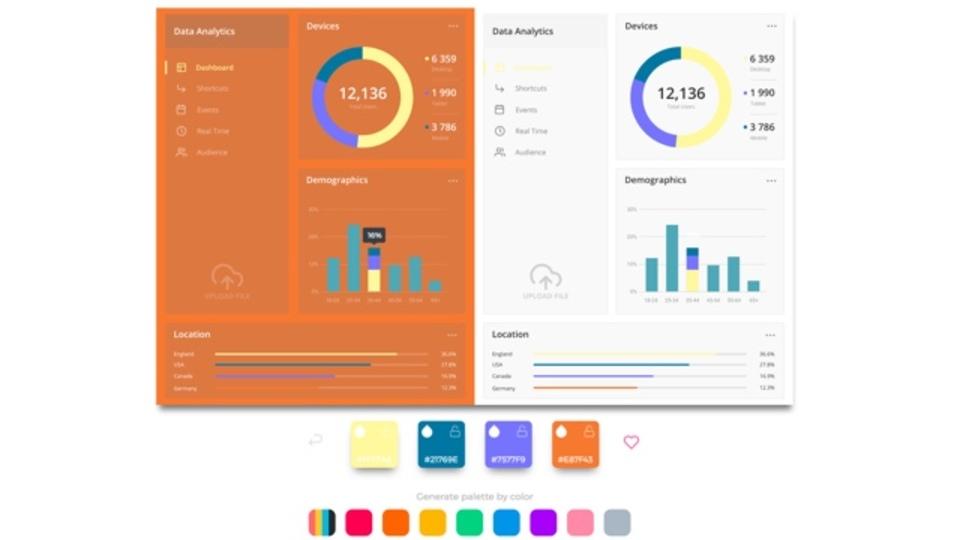 よく見かけるUIやウェブデザインの色味をランダムに試せるサイト「Pandacolors」