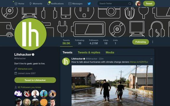 Twitterを「夜間モード」にする方法