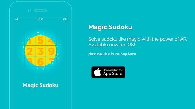 カメラでかざすだけ、数独を一瞬で解いてくれるアプリ『Magic Sudoku』