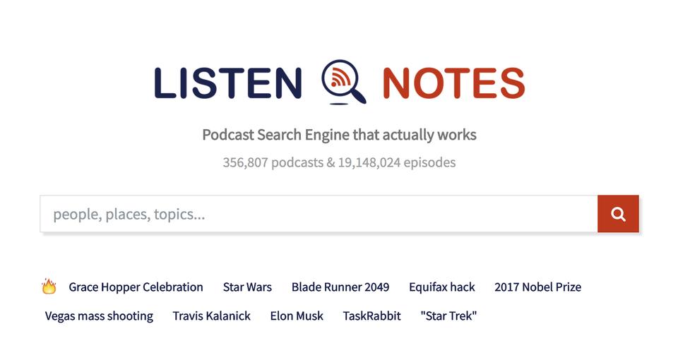 1800万件のエピソードをデータベース化! ポッドキャストに特化した検索エンジン「Listen Notes」