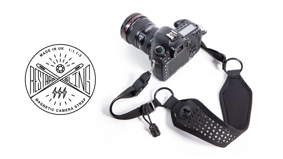 レンズキャップを磁石でくっつける!英国生まれのマグネット式カメラストラップ「Sling」