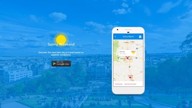 週末に晴れている場所が探せるアプリ『Sunny Weekend』