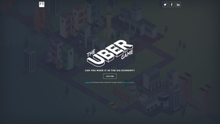 Uberドライバーでどれくらい稼げるか体験できるゲーム「The Uber Game」