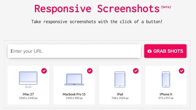 さまざまなデバイスでどのような見た目になるか確認できるサイト「Responsive Screenshots」