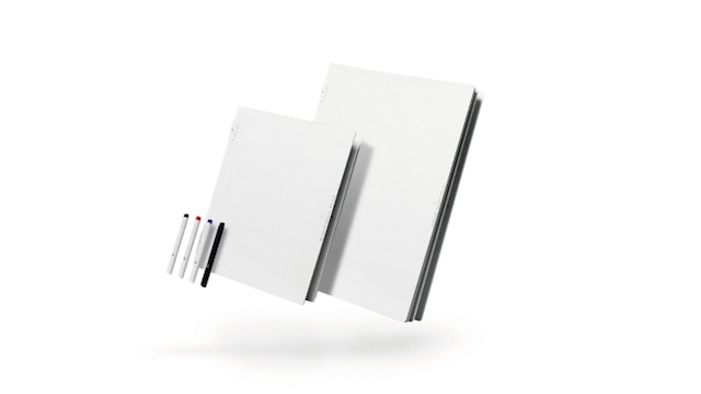 ホワイトボードを4分割。カバンに入れて自由に持ち運びできるスマートな文具「バタフライボード」