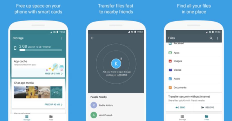 AndroidにAirDrop風のファイル共有アプリ「Files Go」が登場