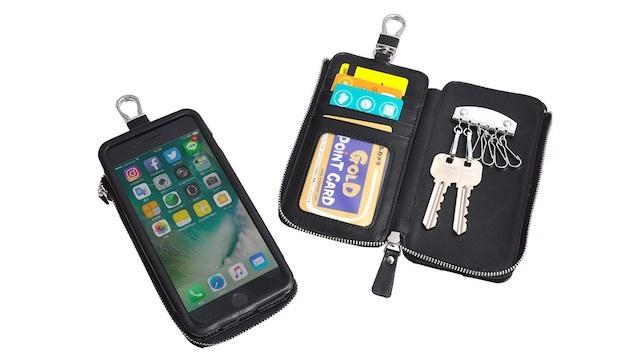 これこそミニマム、そして多機能。鍵もカードもスマホも一括管理できる「シザーバッグケース」