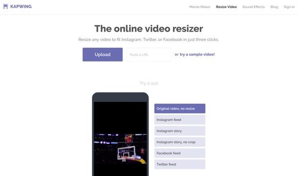 アップロードした動画をリサイズしてくれるサービス「Online Video Resizer」