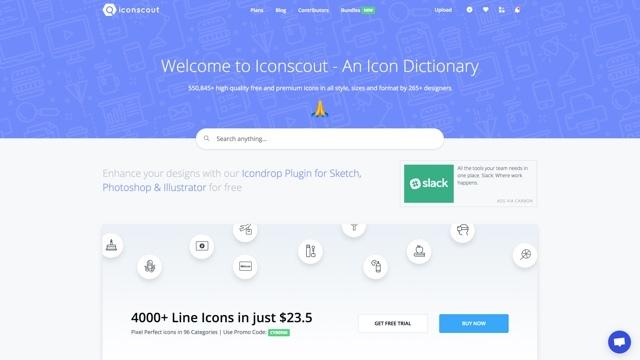 55万種類のベクターアイコンが手に入るサイト「iconscout」