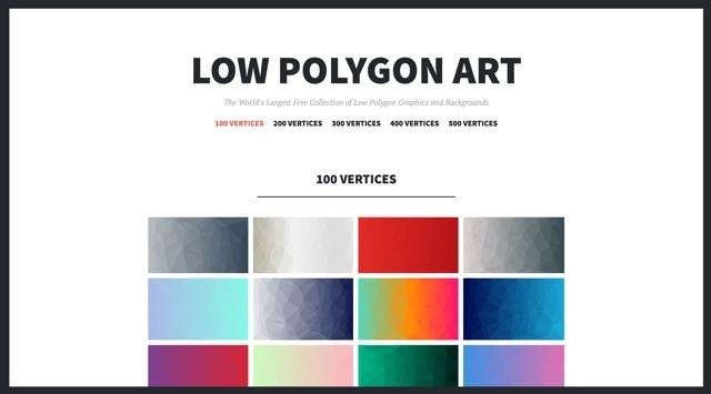 ポリゴンアートの背景画像が手に入るサイト「LOW POLYGON ART」
