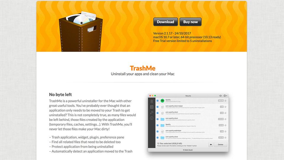 Macにインストールしたアプリを完全に削除できるツール「TrashMe」