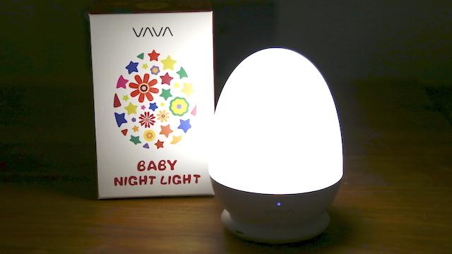 タッチで簡単に調光可能。子ども部屋からアウトドアまで使えるタマゴ型ナイトライト「BABY NIGHT LIGHT」