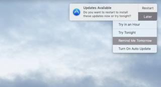 Macのわずらわしい「アップデートあり」通知を消し去る方法