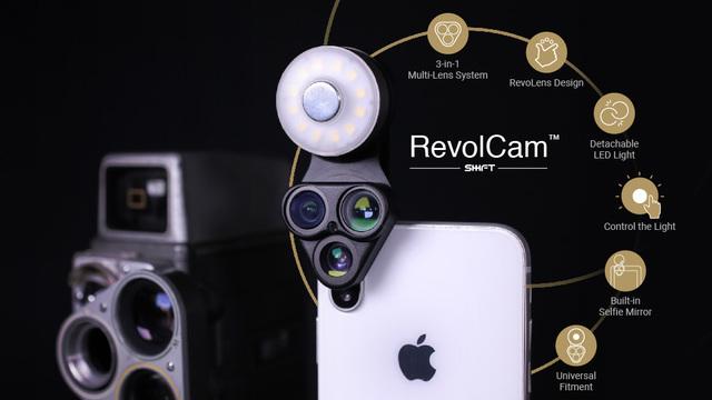 スマホ写真の完成度を高めるライト付きレンズ「RevolCam」がキャンペーンを開始