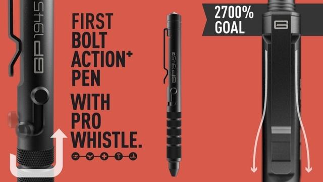 世界で最もタフなペン。「GP1945 ボルトアクションペン」がキャンペーンを開始