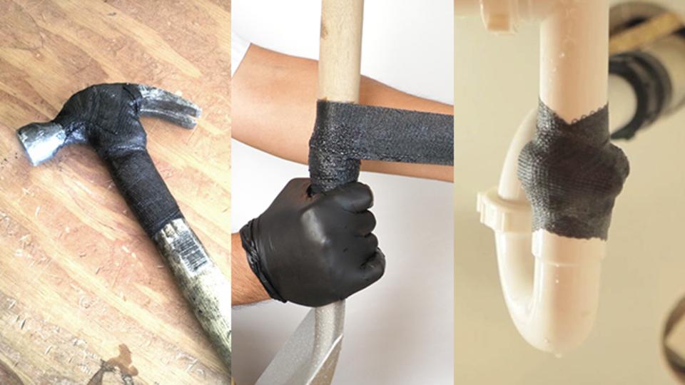 水漏れの処置はもちろん、折れたスコップや金づちも使えるように! 常識を超える「固めて」くっつける補修テープ【今日のライフハックツール・ベスト版】