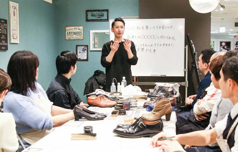 新宿マルイメン靴磨き講座