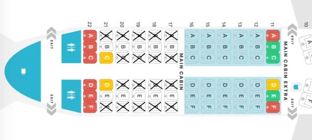 機内座席図
