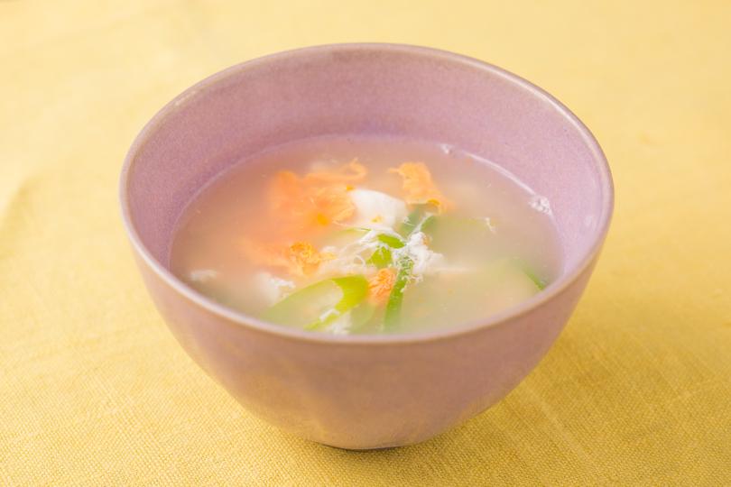 ネギと生姜の卵スープ
