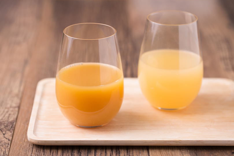 オレンジウーロン茶とグレープフルーツほうじ茶