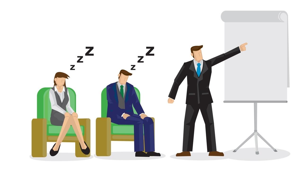 寝ている人と話している人のイラスト