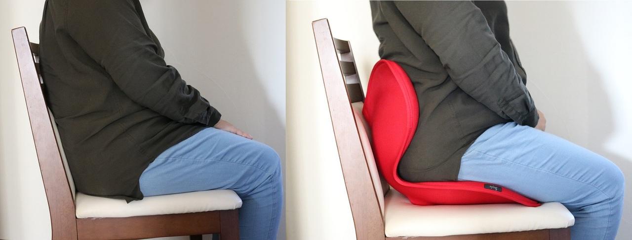 『ボディメイクシート スタイル』使用前と使用後の比較
