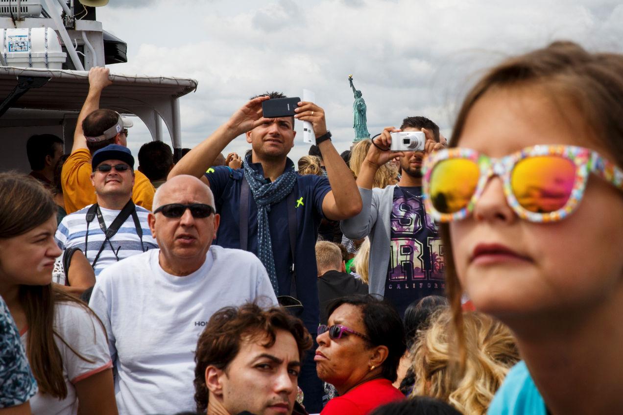 観光客の人混み