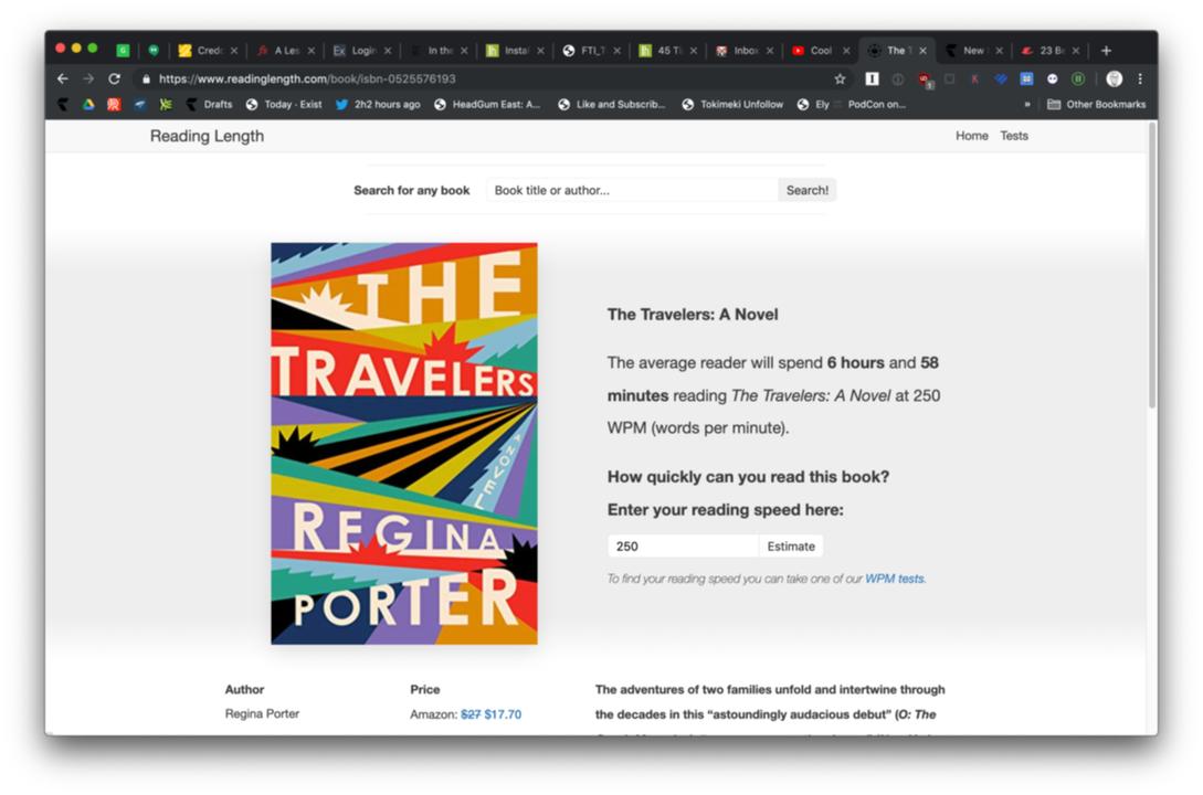 「Reading Length」のWebサイト