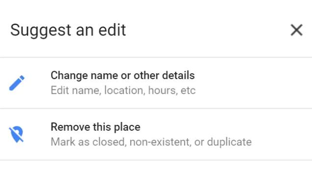 情報の修正を提案