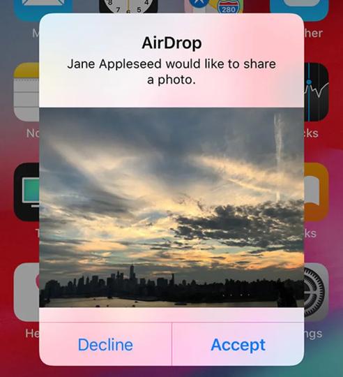 AirDropの表示