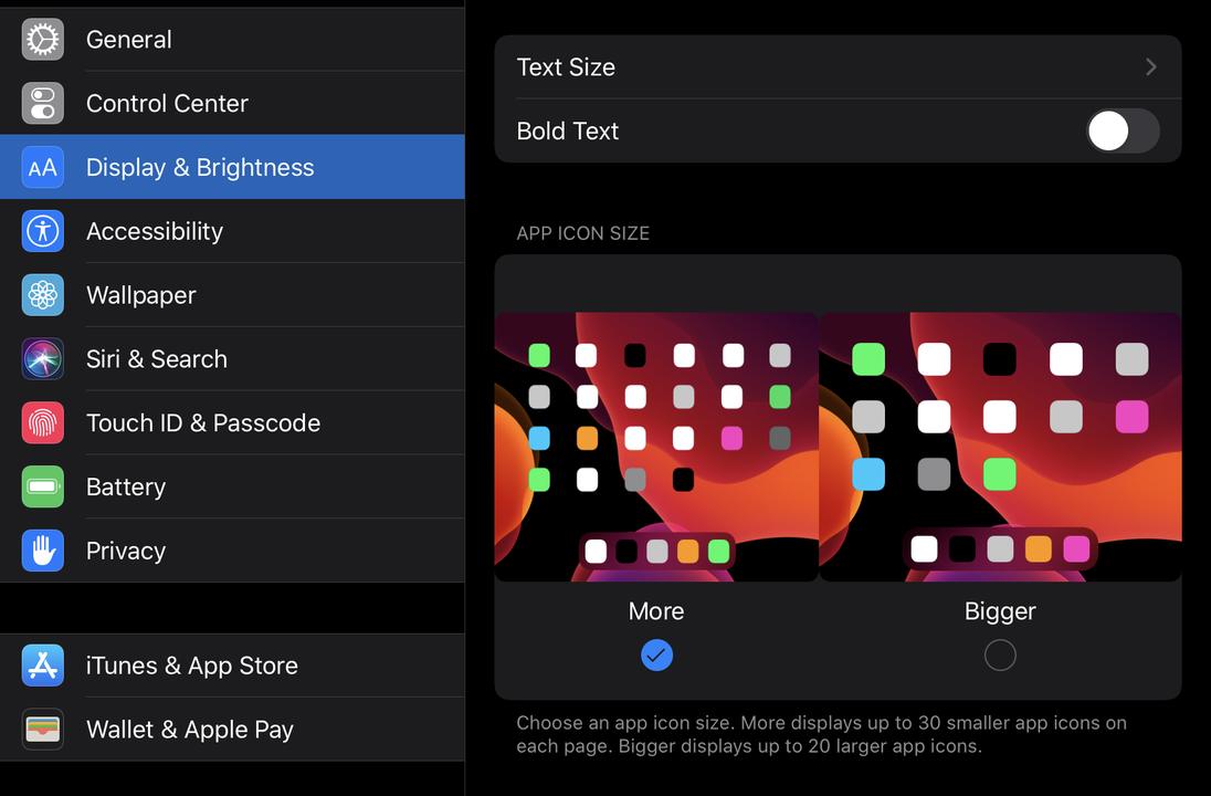 iPad画面のスクリーンショット