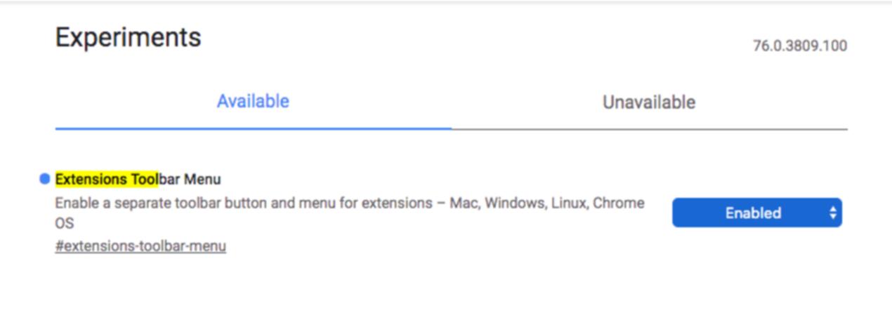 Google Experimentの画面