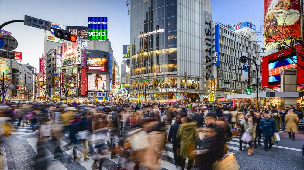 渋谷駅前の人混み