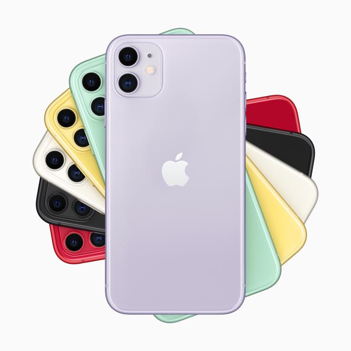 iPhone 11のカラバリ