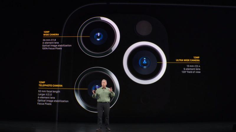 3眼カメラの機能説明の様子