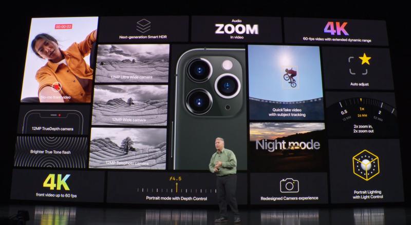 iPhone 11 Proの機能説明の様子