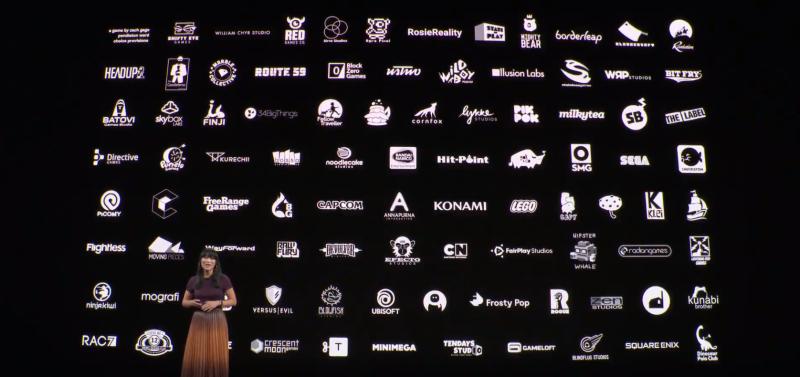 Apple発表会のワンシーン