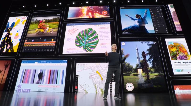 新iPadの説明の様子