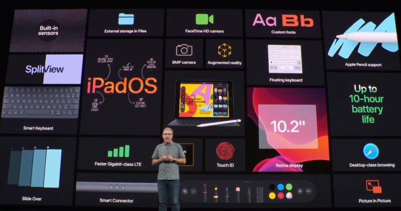 新iPadの説明の様子2
