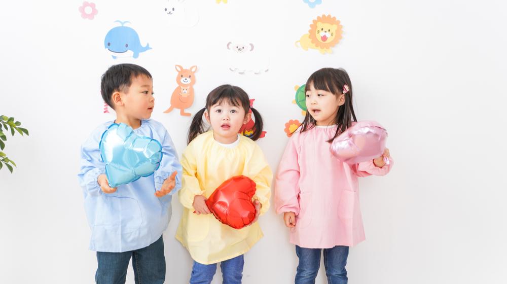 幼稚園児三人