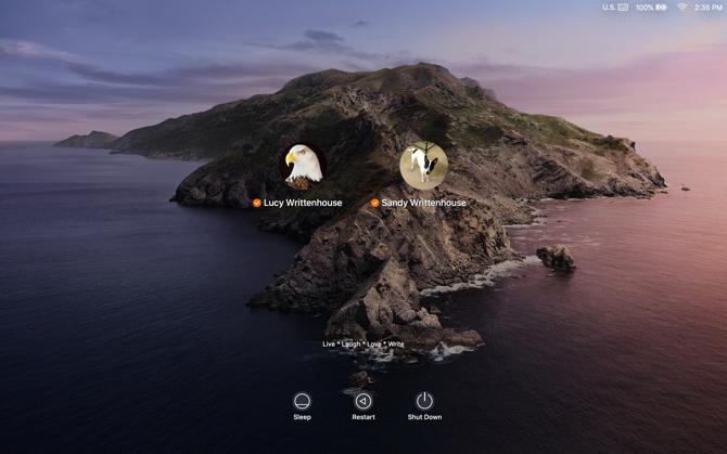 Macのログイン画面