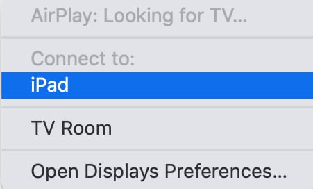 ApplePlayのメニュー