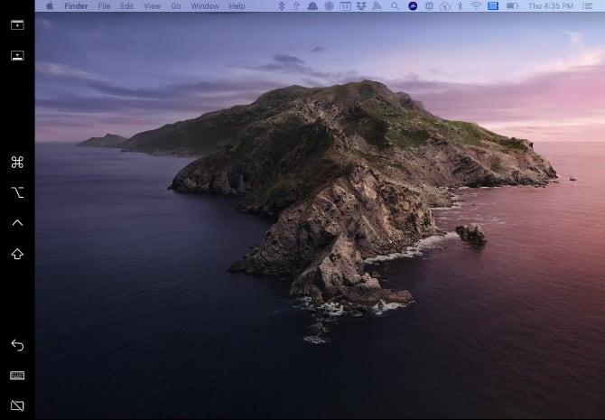 macOS Catalinaの画面
