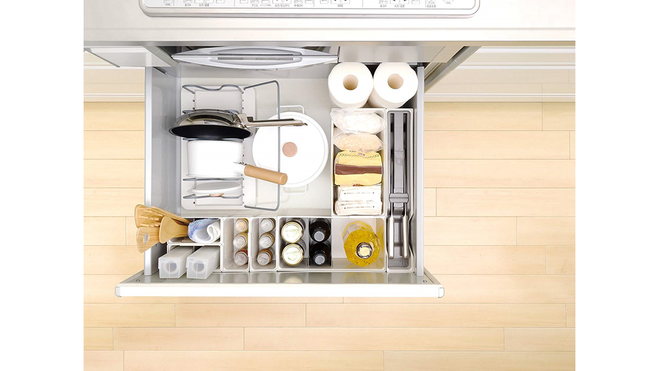 Photo of There is no wasted space in the kitchen, and convenience is improved! Drawer storage tool that can be freely combined