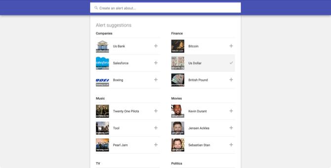 Googleアラートのページ
