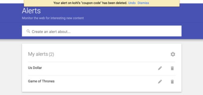 Googleアラートのマイアラート